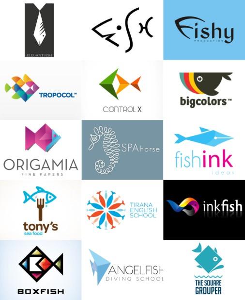 激发灵感 以鱼为主题元素的独创logo设计作品